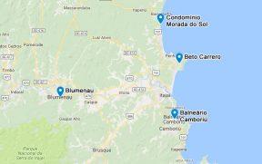 Mapa com a Localização da Casa e Principais Pontos de Interesse