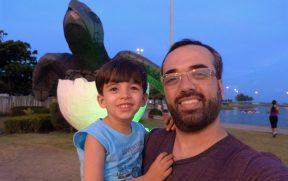 Pai e Filho no Projeto Tamar