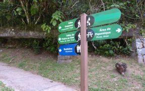 Placas do Parque Nacional da Serra dos Órgãos