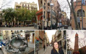 O agradável e tranquilo bairro Gràcia em Barcelona