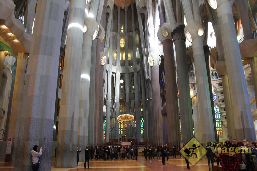 Interior da Sagrada Família