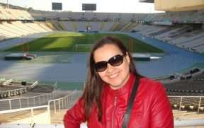 Interior do Estádio Olímpico de Barcelona