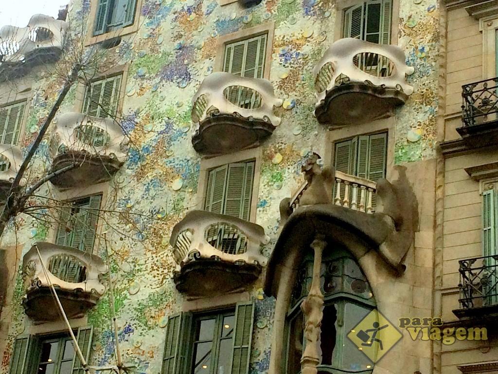 sacadas peculiares da Casa Batlló
