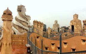 O terraço de La Pedrera