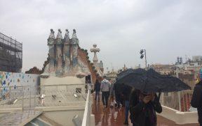 A Casa Batlló também tem terraço