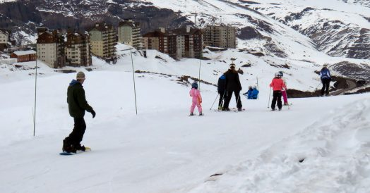 Snowboard e Esqui no Valle Nevado