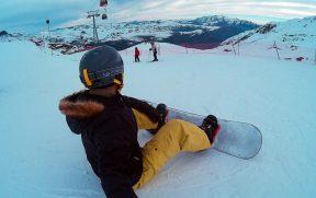 Andando de Snowboard no Valle Nevado
