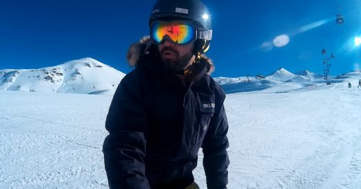 Esquiando no Valle Nevado