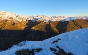 Vista da Cordilheira dos Andes na Estrada