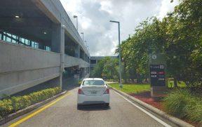 Devolvendo o carro alugado no aeroporto de Miami