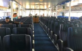 Interior do ferry boat da FRS Caribbean