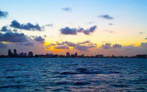 Pôr do sol em Miami