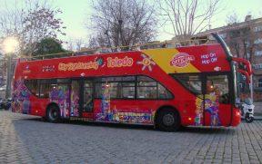 O ônibus da City Sightseeing em Toledo