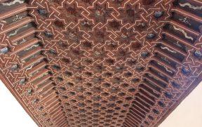 O detalhe mudéjar do teto do 2º andar