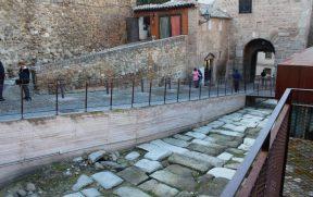A antiga estrada romana do século 1