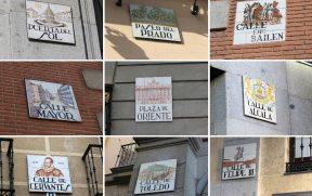 As placas de rua em Madri também são uma atração da cidade