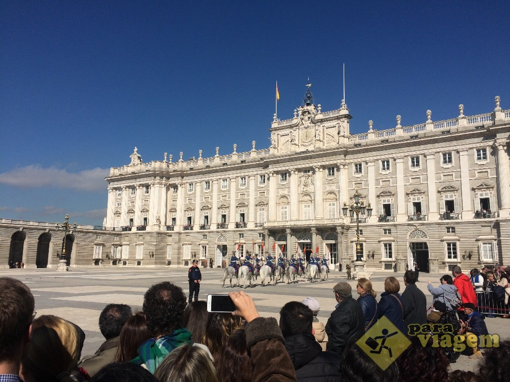 Troca da Guarda no Palácio Real de Madri