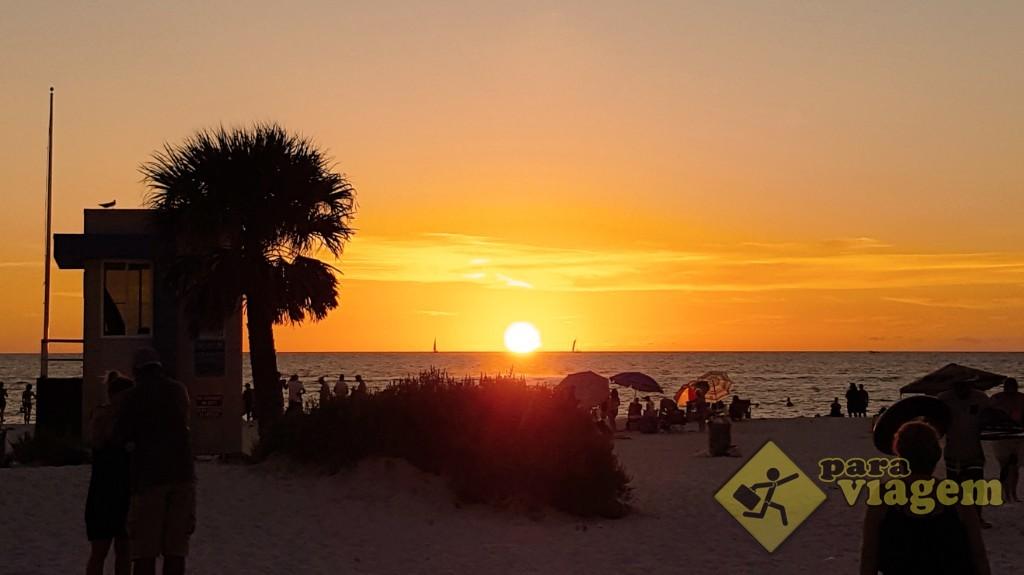 Pôr do sol em Clearwater na Flórida