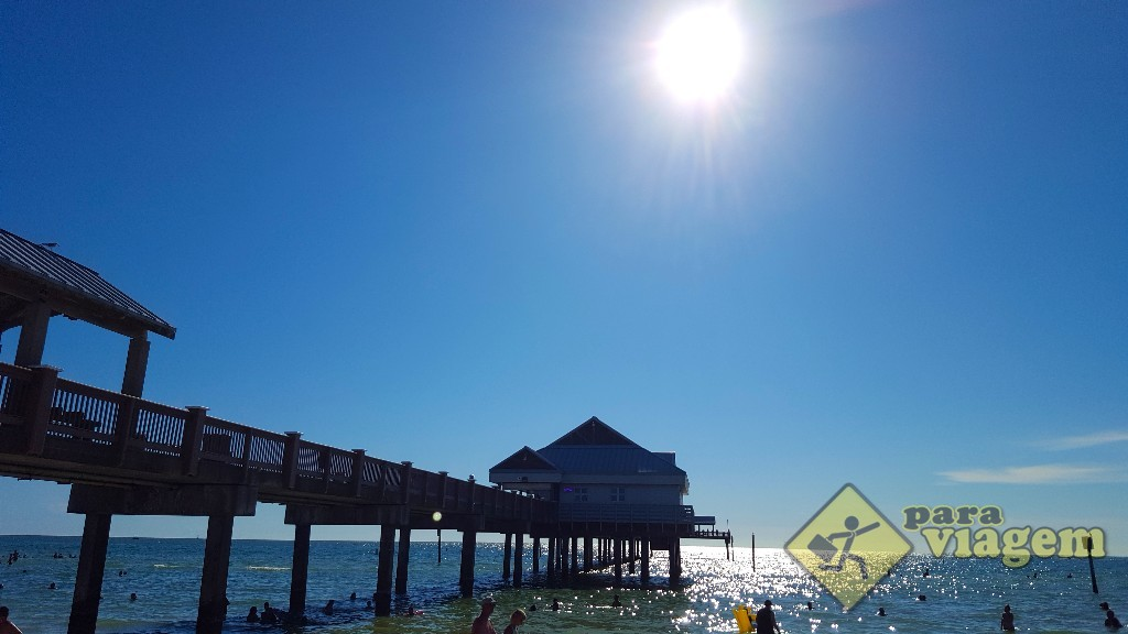 Pôr do sol no Pier 60 em Clearwater
