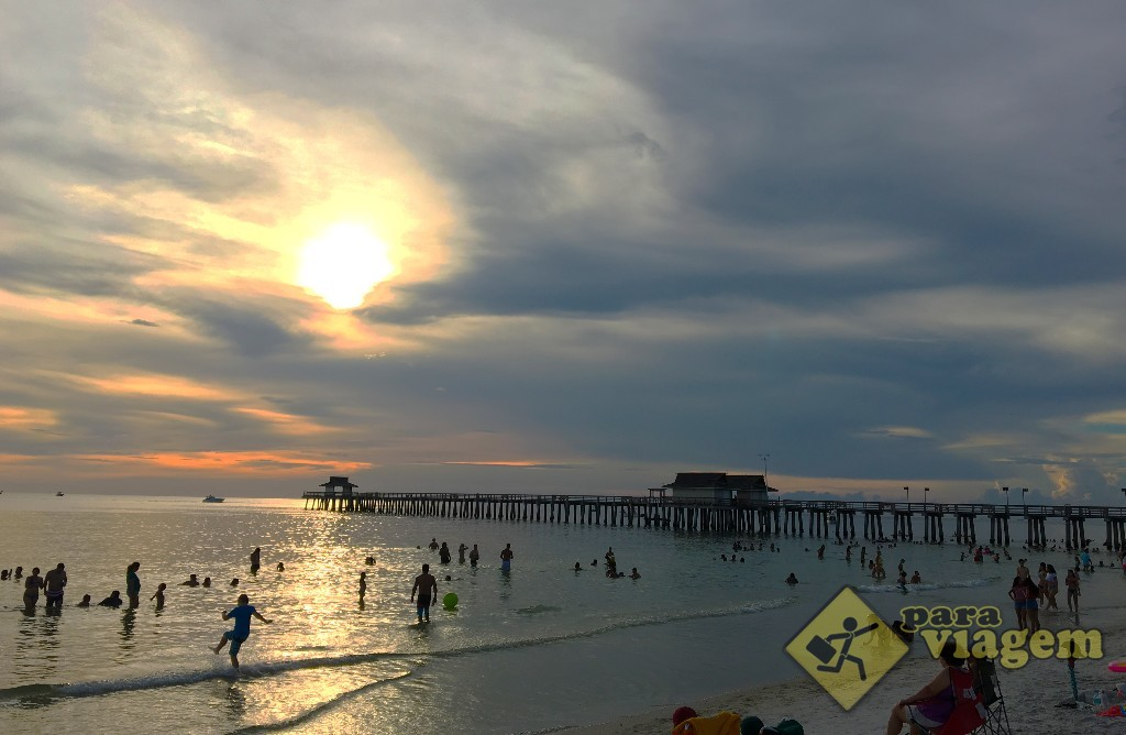 Pôr do sol em Naples na Flórida