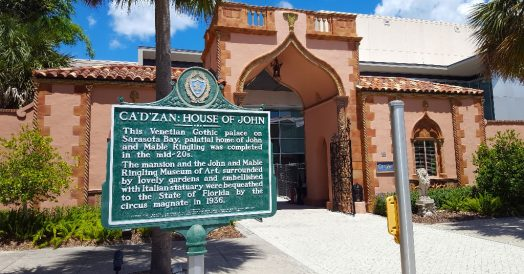 Entrada do John and Mable Ringling Museum of Art
