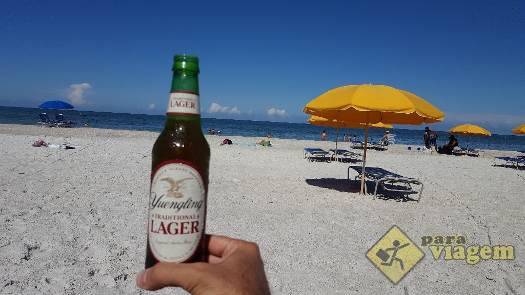 É proibido bebida alcóolica na praia de St. Pete Beach