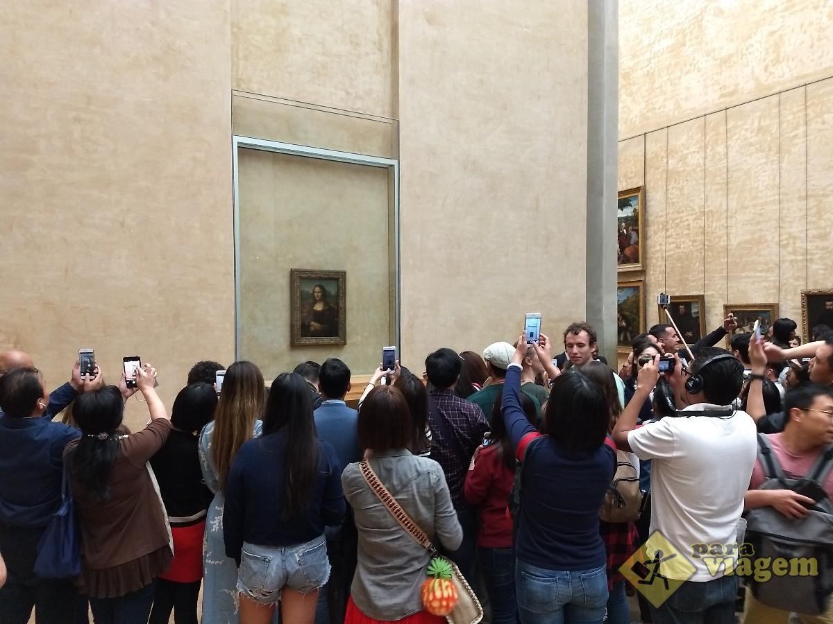 Mona Lisa no Museu do Louvre