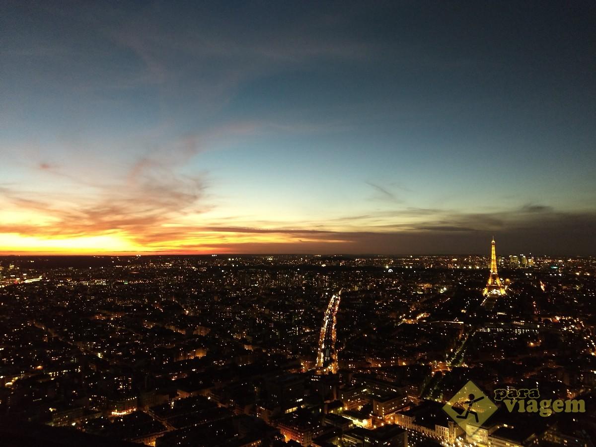 Pôr do Sol em Paris visto da Torre Montparnasse