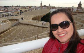 O mirante nos dá um panorama 360 º de Sevilha
