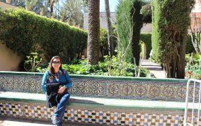 Um dos jardins do Real Alcázar