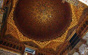 A bela cúpula do Salão dos Embaixadores