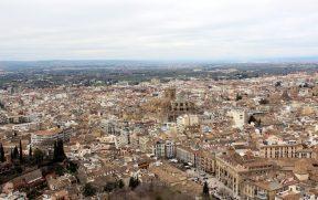 Vista de Granada da T. de la Vela. Note a Catedral no centro