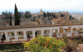 Vista para Alhambra a partir do Generalife