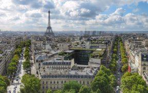 Torre Eiffel vista do Arco do Triunfo