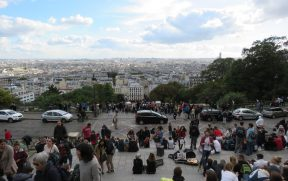 Vista de Paris na Basílica de Sacre Coeur