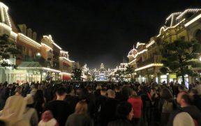 Main Street Iluminada na Saída do Parque
