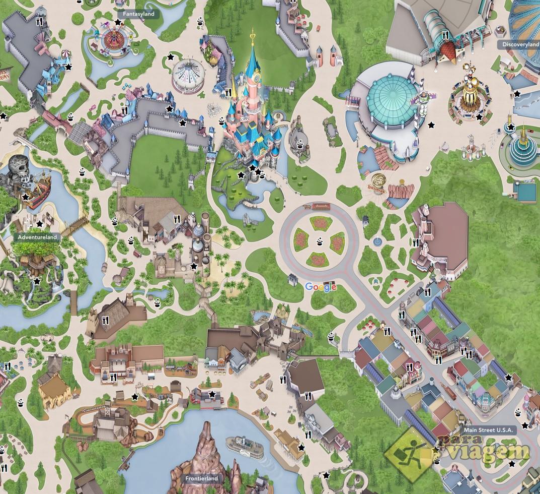 Mapa Virtual Da Disneyland Paris Para Viagem
