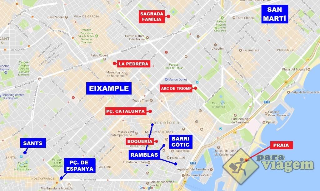Bairros onde se hospedar em Barcelona e alguns pontos de interesse