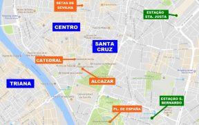 Bairros onde se hospedar em Sevilha e alguns pontos de interesse