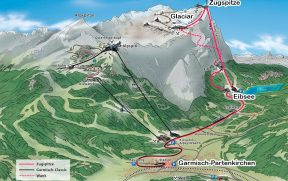 Mapa do Zugspitze