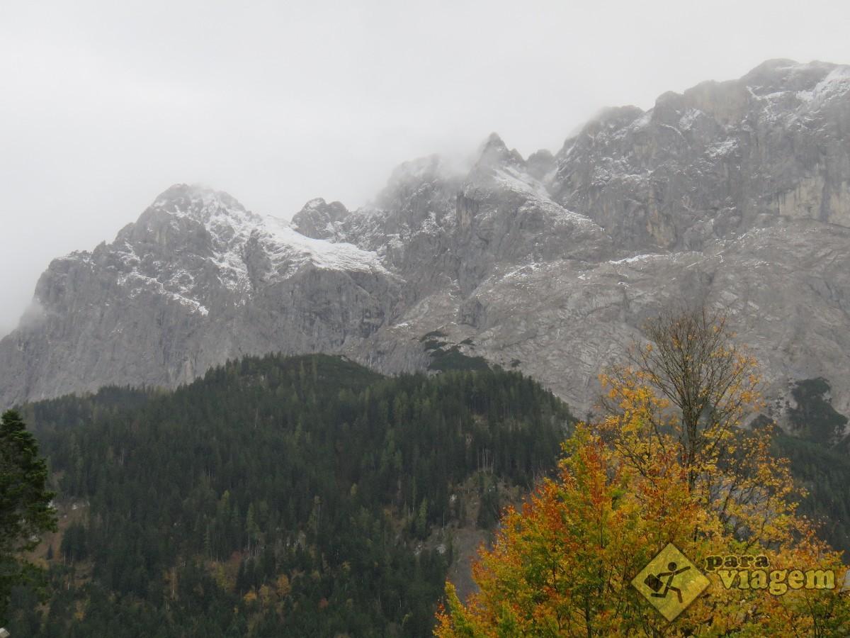 Montanha Vista da Estação Eibsee