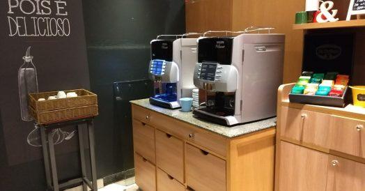 Estação de café e chá