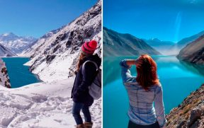 Cajón del Maipo no Inverno e no Verão