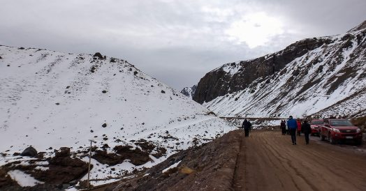 Caminhada de 2 km até Embalse El Yeso