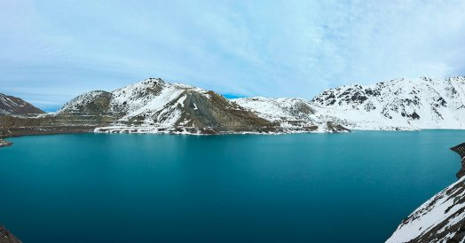 Foto panorâmica do Embalse El Yeso