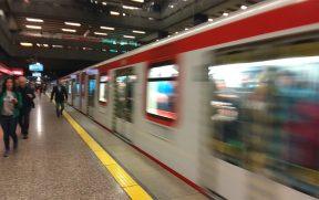 Estação de Metrô em Santiago