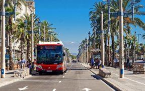 Ônibus em Barcelona