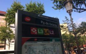 Sinalização do metrô de Barcelona