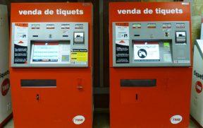 Máquinas de autoatendimento do metrô