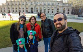 Família em viagem pelo Chile